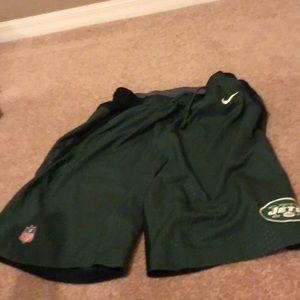 New York jets nike shorts Large. Never worn.